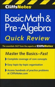 CliffsNotes Basic Math & Pre-Algebra Quick Review,2nd Edition