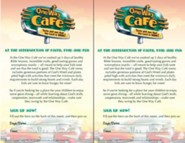One Way Cafe Bulletin Insert (25/pack)