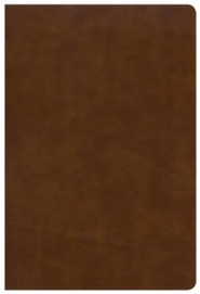 Imitation Leather Tan Large Print