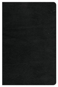 CSB Ultrathin Reference Bible--genuine leather, black