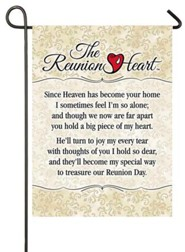 Reunion Heart Flag, Small