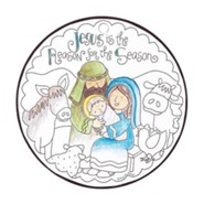 Jesus Is the Reason For the Season, Color Ornament