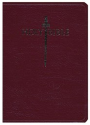 Genuine Leather Burgundy Large Print Book Red Letter Thumb Index