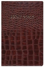 Imitation Leather Brown Large Print Book Alligator Print