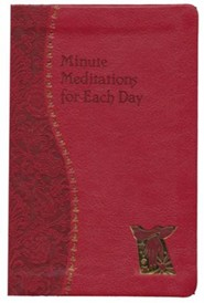 Minute Meditations for Each Day, Imitation Leather, Red
