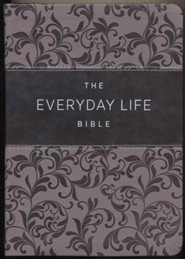 New Everyday Life Bible: The Power Of God's Word For Everyday Living, Imitation Leather, pewter