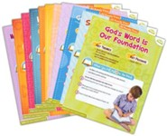 Answers Bible Curriculum Year 1 Quarter 1 Grades 1 & 2 Extra Take Home Sheets    (1 Student)