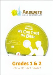 Answers Bible Curriculum Year 1 Quarter 1 Grades 1 & 2 Teacher Kit on CD-ROM