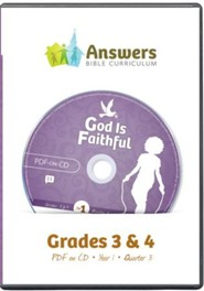 Answers Bible Curriculum Year 1 Quarter 3 Grades 3-4 Teacher Kit on CD-Rom