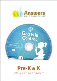 Answers Bible Curriculum Year 1 Quarter 4 Preschool Teacher Kit on CD-ROM