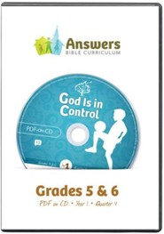 Answers Bible Curriculum Year 1 Quarter 4 Grades 5-6 Teacher Kit on CD-ROM
