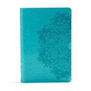 Imitation Leather Teal Thumb Index