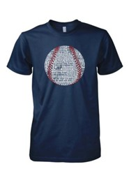Baseball Word Shirt, Navy, Small