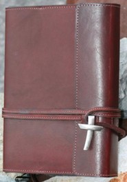 Leather Wrap Bible Cover, Burgundy, Large