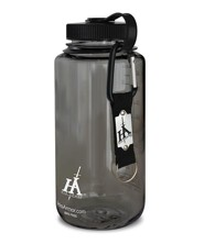 His Armor Sport Bottle, Smoke Color, with His Armor Carabiner Keyring