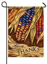 Give Thanks, Harvest Corn Flag, Small
