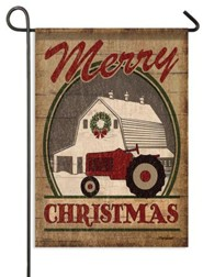 Merry Christmas, Farm Flag, Small