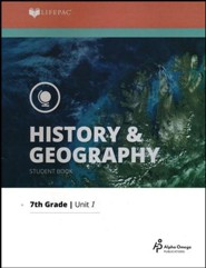 Lifepac History & Geography Grade 7 Unit 1: What Is History?