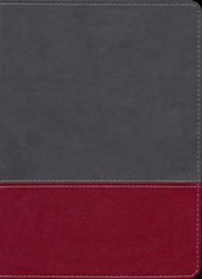Imitation Leather Gray / Burgundy Book Red Letter