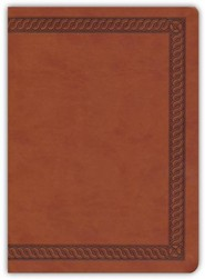 Imitation Leather Brown Book Red Letter Burnished