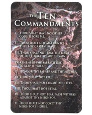 Ten Commandments Pocket Card