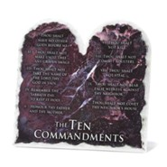 Ten Commandments Tabletop Plaque