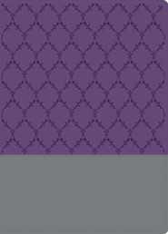 Imitation Leather Purple / Gray Book Red Letter with Design