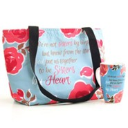 Sisters By Heart Tote Bag and Mug Set