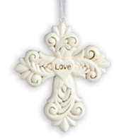 Love, Decorative Cross Ornament