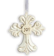 Joy, Decorative Cross Ornament