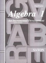 Saxon Algebra 1, Test Forms