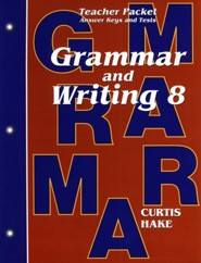 Saxon Grammar & Writing Grade 8 Teacher Packet, 1st Edition