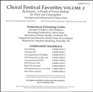 Choral Festival Favorites, Volume 2 Split-Track Accompaniment
