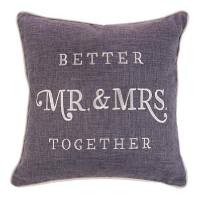 Better Together, Mr. and Mrs., Pillow, Square, Large  -