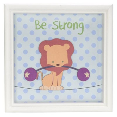 Be Strong, Lion, Framed Art  -