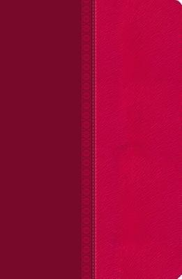 NKJV Large Print Ultraslim Reference Bible, Leathersoft Raspberry Pelt  -