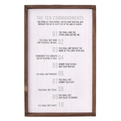 10 Commandments Wall Plaque  -