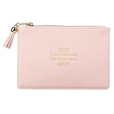 Trust In the Lord Pouch, Pink  -