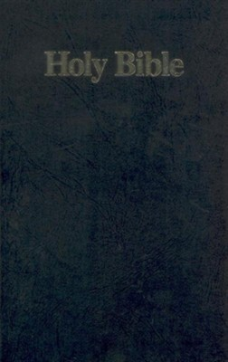 NKJV Gift Bible- Paper Over Board, Black  -