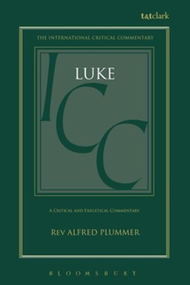 Luke, International Critical Commentary   -     By: Alfred Plummer