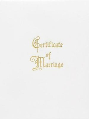 Marriage Certificate Booklet with Traditional Service  -