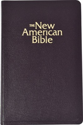 NABRE Gift and Award Bible, Deluxe, Bonded Leather, Burgundy, Thumb Index  -