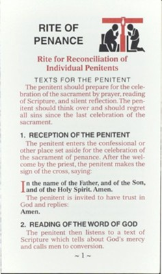 Rite of Penance Card for the People  -     By: I. C. E. L.