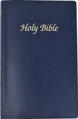 NAB First Communion Bible, Imitation leather, Navy blue   -