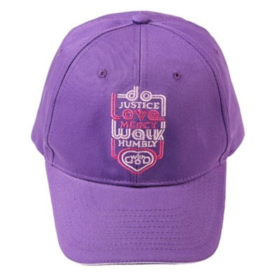 Do Justice Love Mercy Cap, Purple  -
