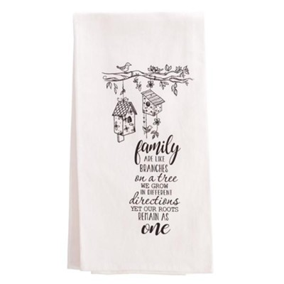 Family Are Like Branches Tea Towel  -