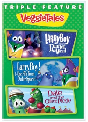 LarryBoy Triple Feature: LarryBoy & the Rumor Weed, LarryBoy  & the Fib from OuterSpace and Dave & the Giant Picke  -     By: VeggieTales