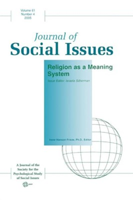 Journal of Social Issues, Religion as a Meaning SystemVolume 61, Numb Edition  -     By: Israela Silberman
