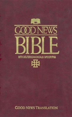 GNT Pew Bible Catholic, Paper Over Board, Burgundy  -     By: American Bible Society