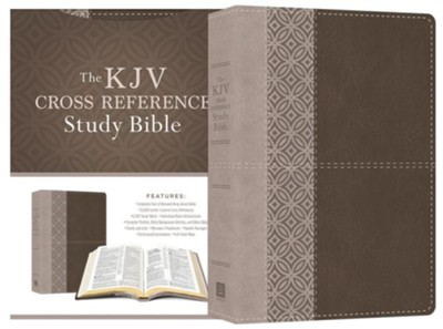 KJV Cross Reference Study Bible-soft leather-look, stone  -     By: Christopher D. Hudson